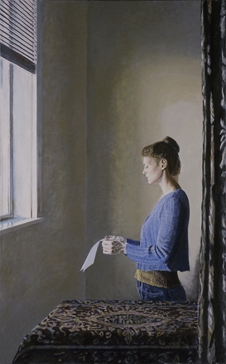 girl reading a letter at an open window doug robinson 21954